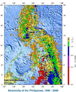 フィリピン・マニラの建物と地震